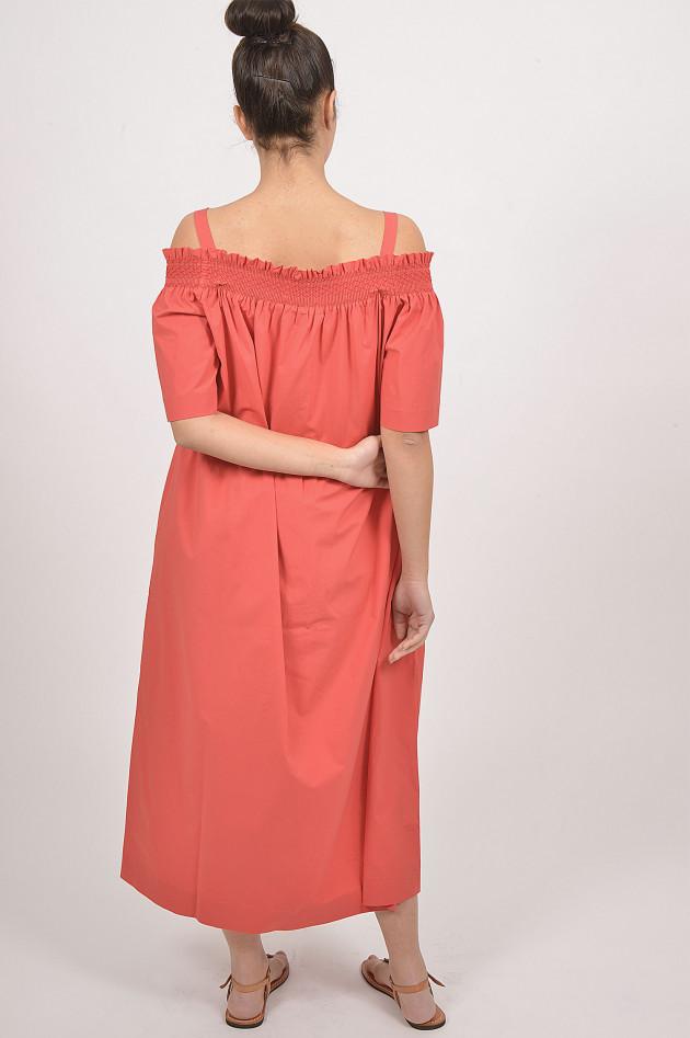Caliban Kleid Mit Carmen Ausschnitt In Rot Gruener At