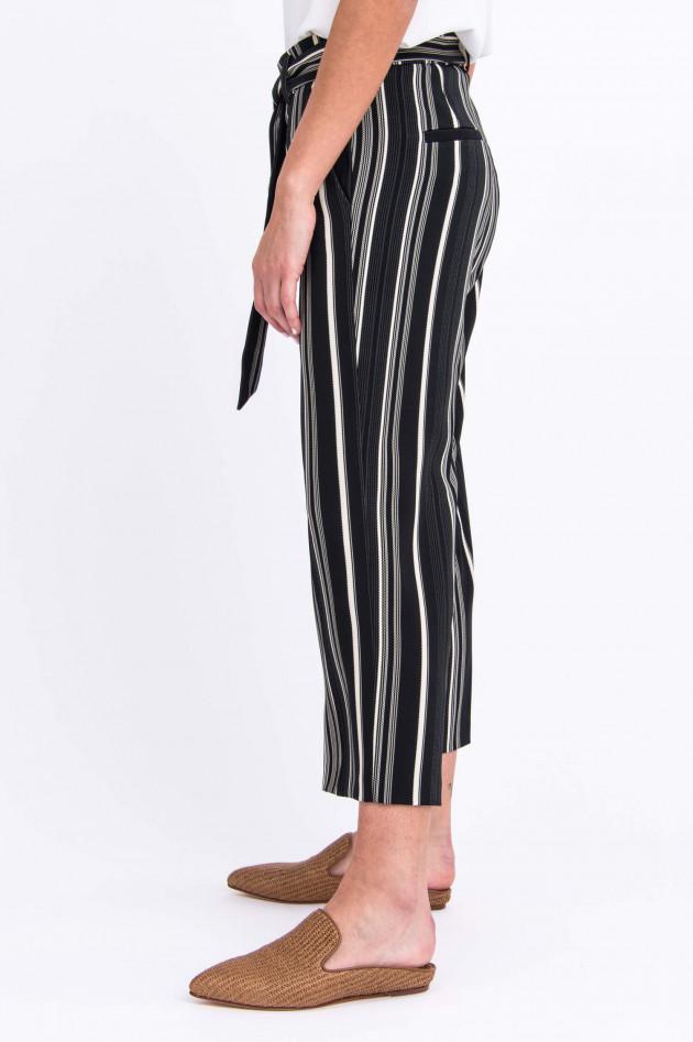 Cambio  Culotte CLAIRE in Schwarz/Weiß gemustert