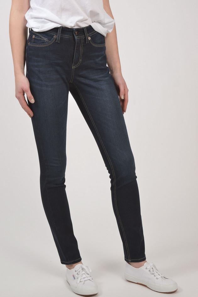 gr ner online shop cambio jeans parla in dunkelblau. Black Bedroom Furniture Sets. Home Design Ideas