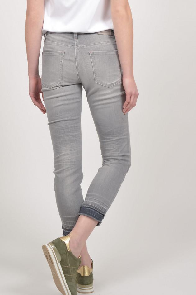 gr ner online shop cambio jeans liu mit doppeltem beinabschluss in grau. Black Bedroom Furniture Sets. Home Design Ideas
