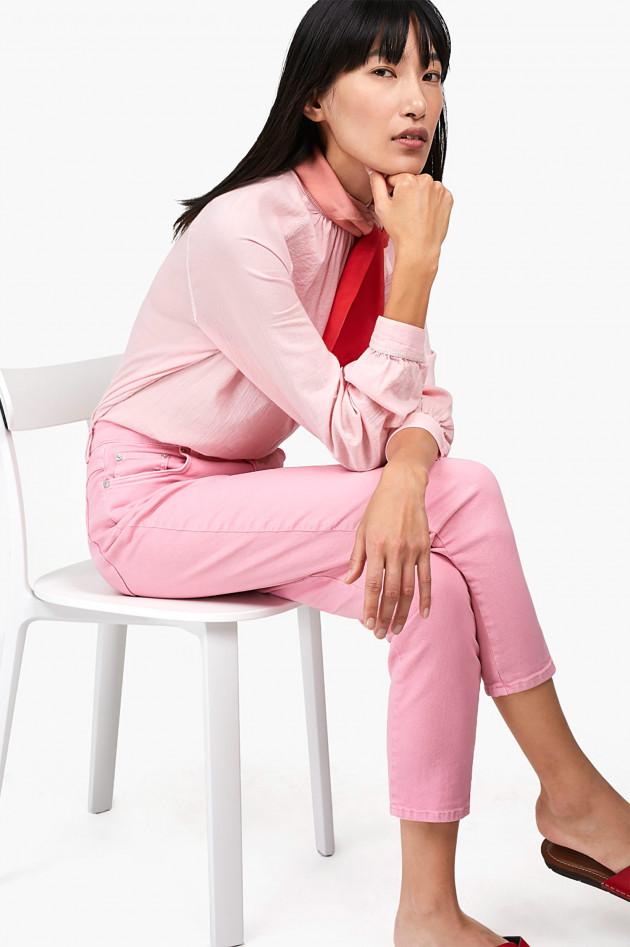 gr ner online shop closed bluse mit stehkragen in rosa. Black Bedroom Furniture Sets. Home Design Ideas