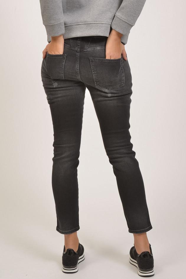 gr ner online shop closed jeans cropped worker in grau. Black Bedroom Furniture Sets. Home Design Ideas