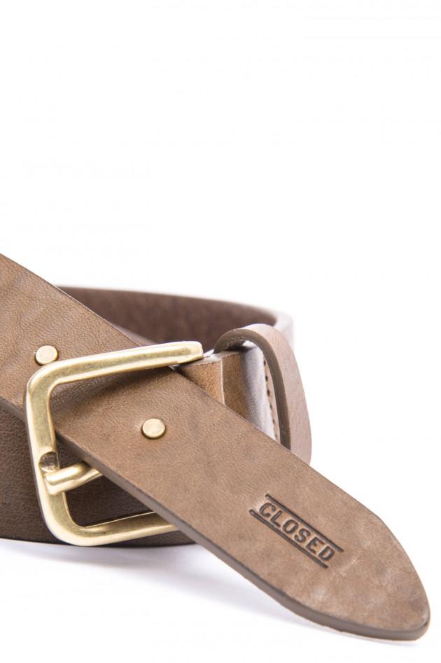 Closed Ledergürtel Mit Nieten-Details in Braun