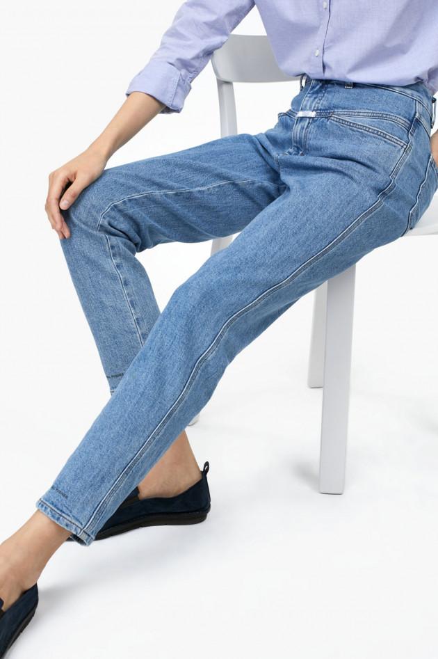 gr ner online shop closed jeans pedal pusher classic fit high waist in hellblau. Black Bedroom Furniture Sets. Home Design Ideas