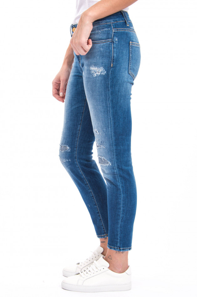Closed Jeans BAKER mit Destroyed-Look in Mittelblau