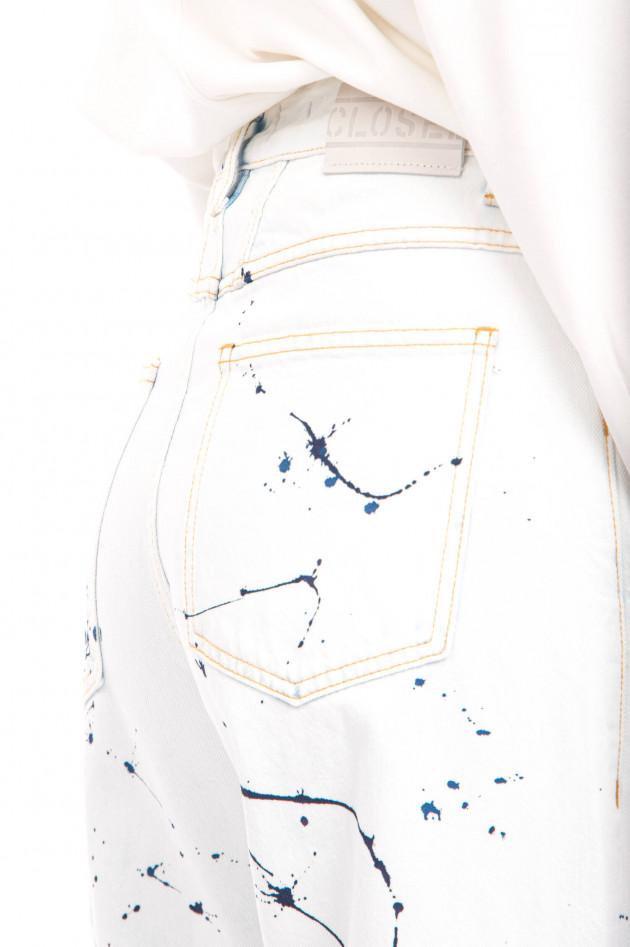 Closed Jeans X-LAND mit Colour-Splash-Design in Hellblau