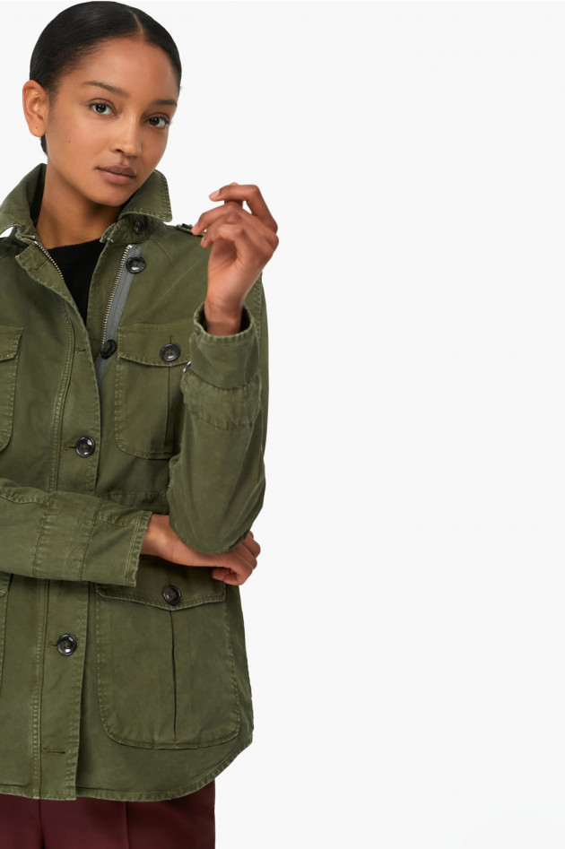Closed Outdoorjacke in Oliv