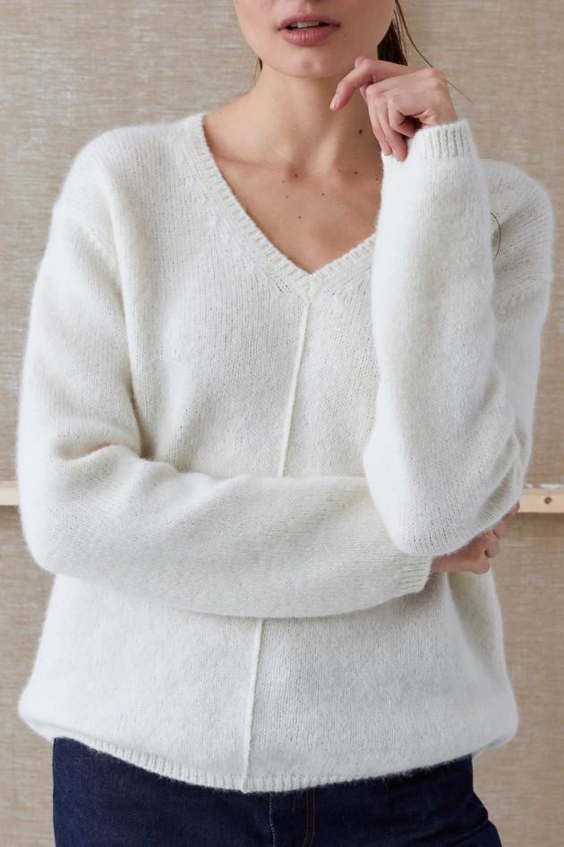 Closed Pullover aus Alpaka-Mix in Weiß