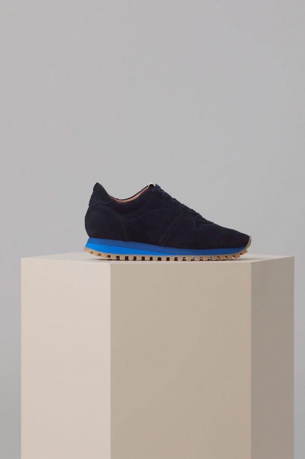 Closed Sneakers aus Veloursleder in Navy