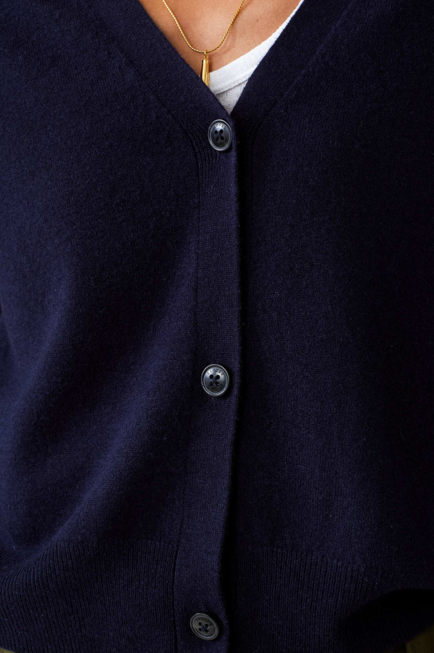 Closed Kurze Strickweste aus Wolle in Navy