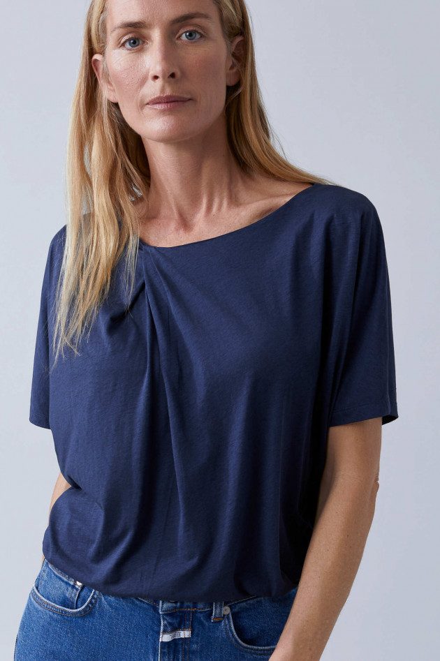 Closed Shirt aus Lyocell-Mix in Navy