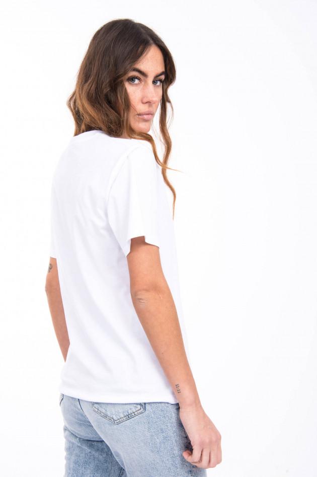 Closed Kurzarmshirt aus Bio-Baumwolle in Weiß