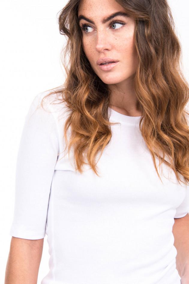 Closed Basic Shirt aus Baumwoll-Mix in Weiß