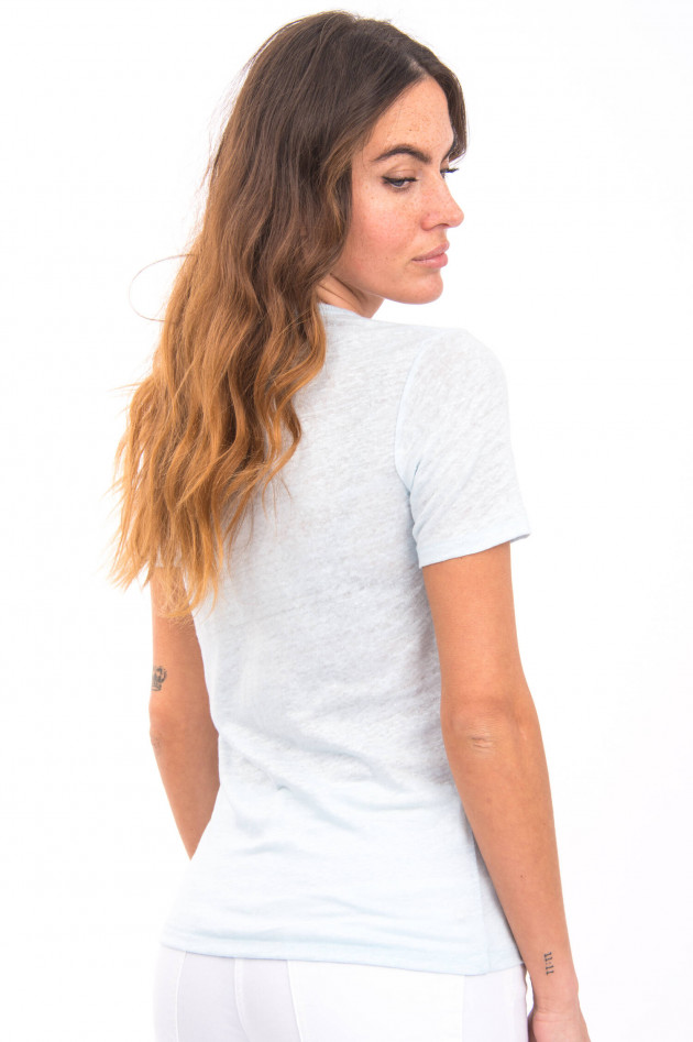 Closed T-Shirt aus 100% Leinen in Hellblau