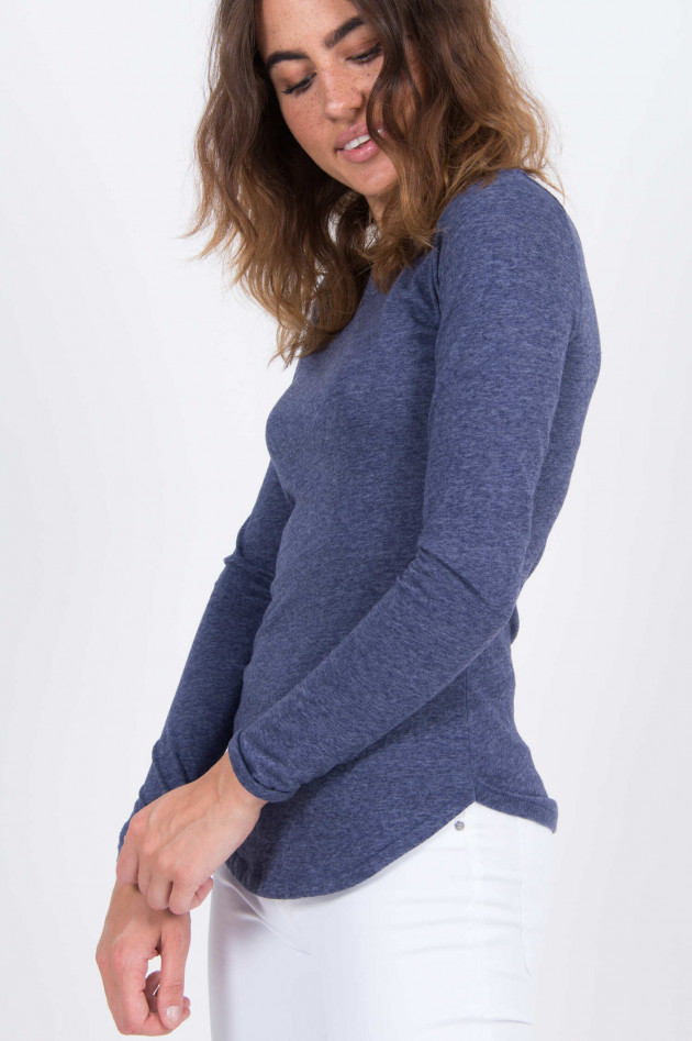 Closed Longsleeve in Blau meliert