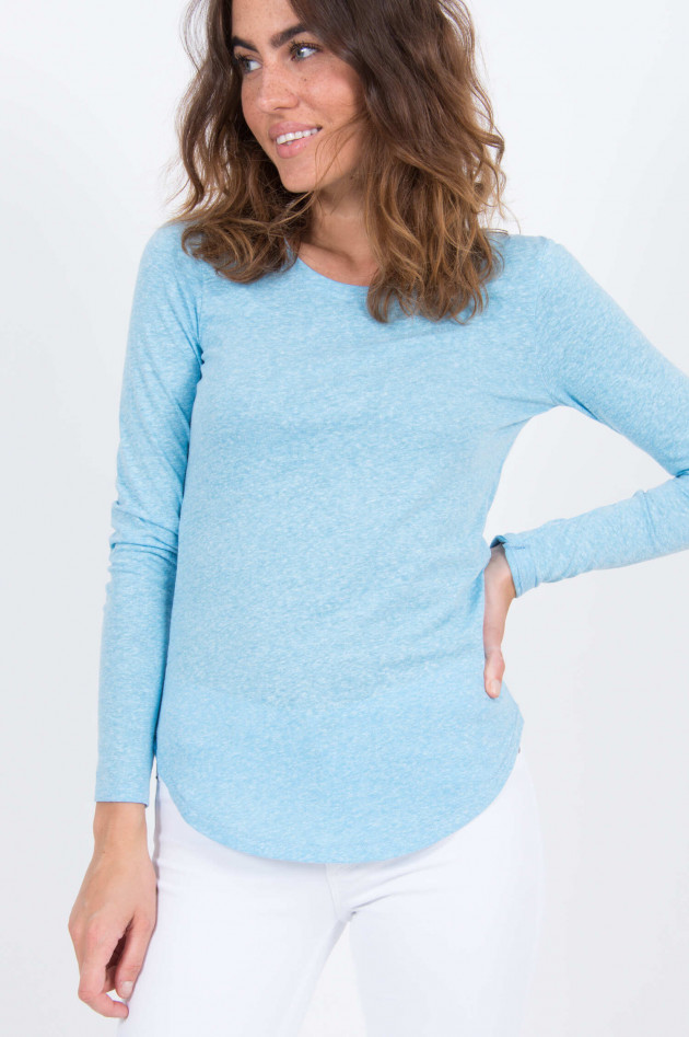 Closed Longsleeve in Hellblau meliert