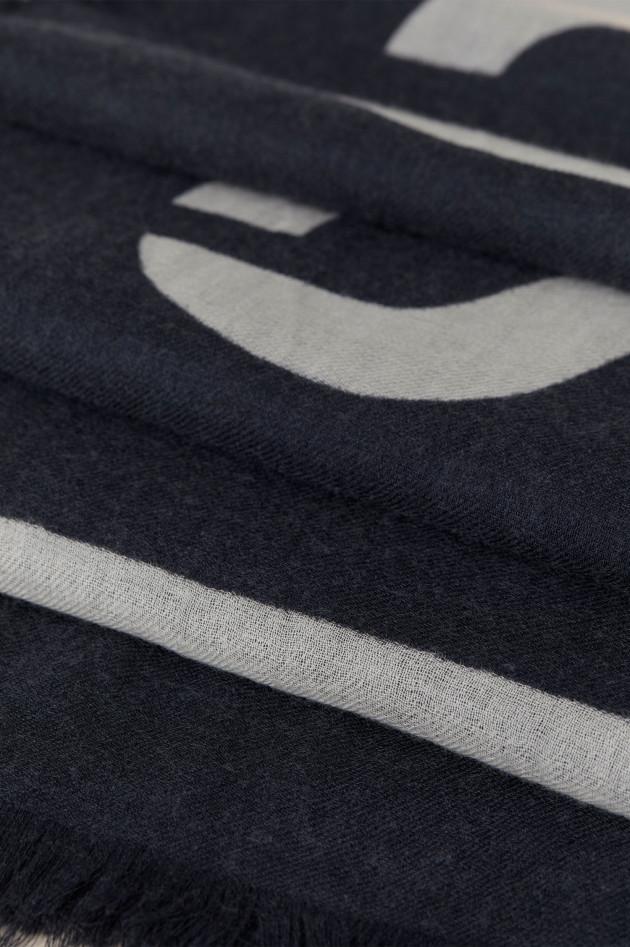 Closed Logo Schal in Navy