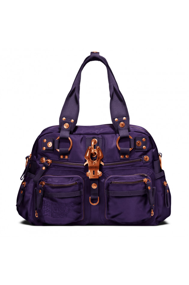 Handtasche Double B Coppervioletta