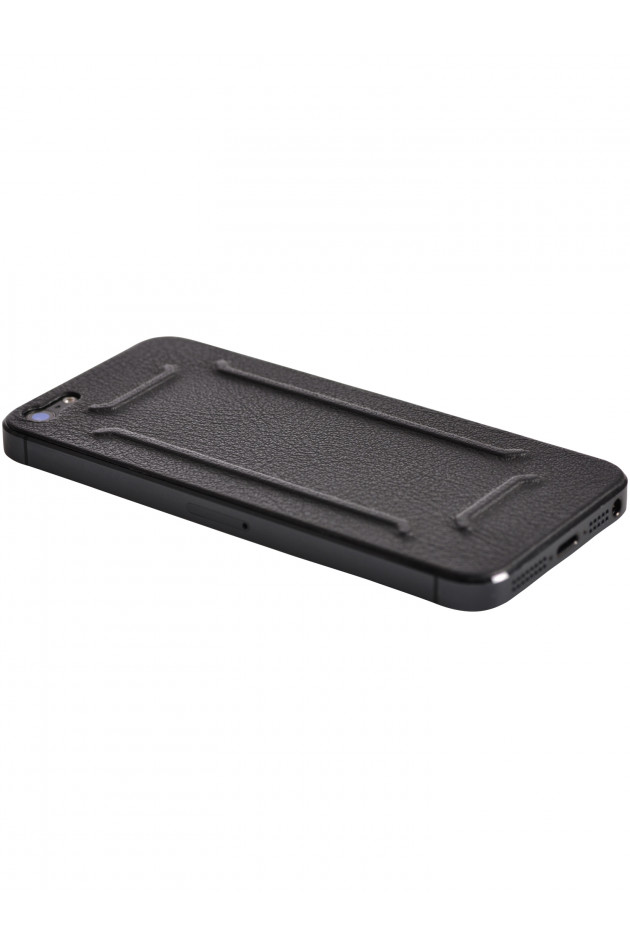 iPhone 5 Lederapplikation Braun Srukturiert