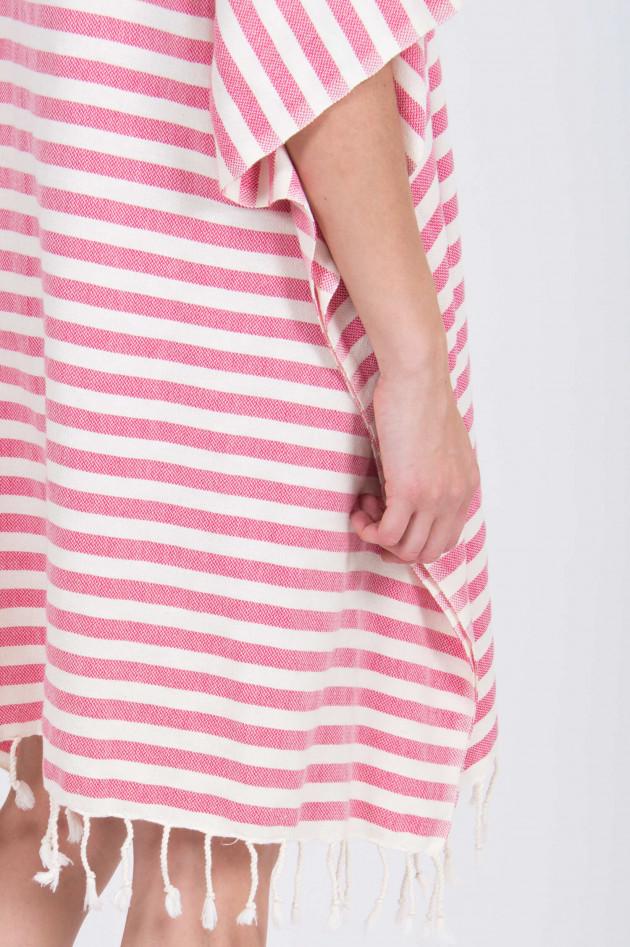 Espadrij Tunika in Pink/Weiß gestreift