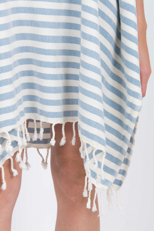 Espadrij Tunika in Blau/Weiß gestreift