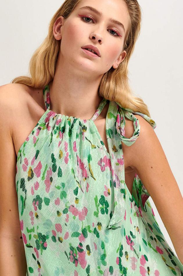 Essentiel Maxi-Kleid VANDALE in Salbei gemustert