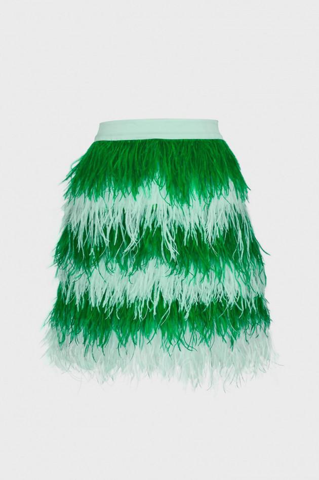 Essentiel Federrock in Mint/Grün gestreift