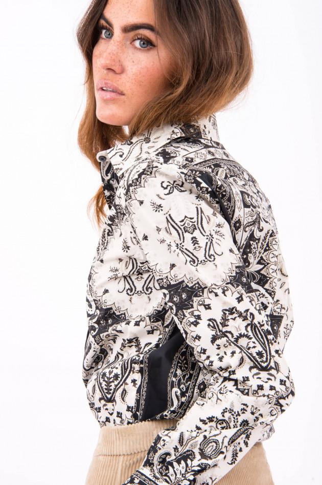 Etro Hemd mit Paisley-Muster in Schwarz/Weiß