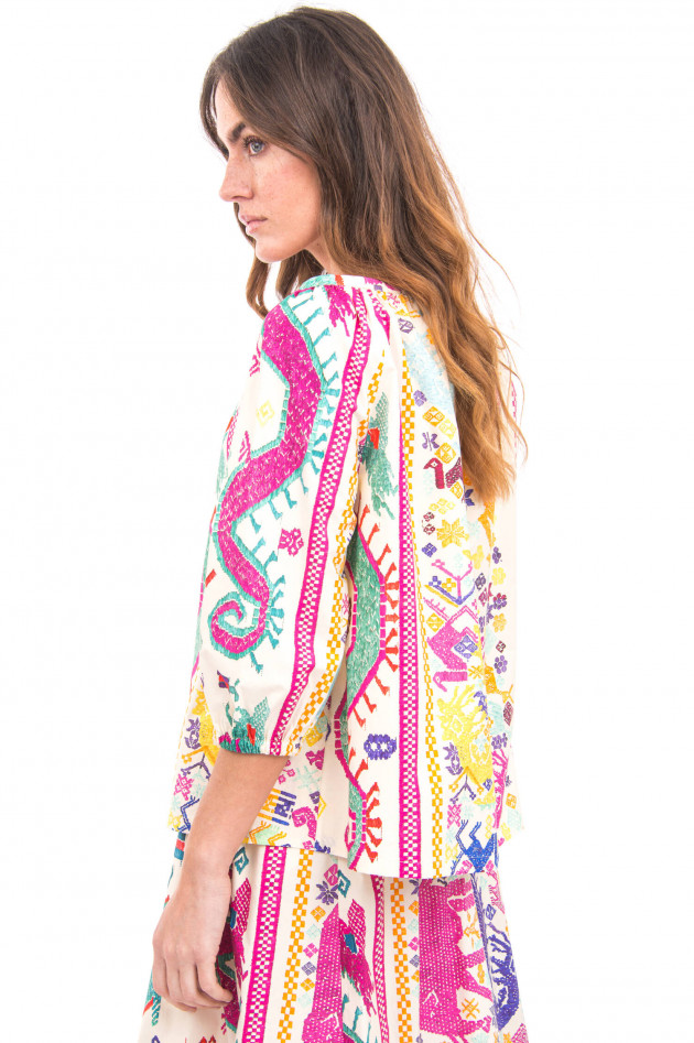 Etro Ethno-Bluse in Multicolor