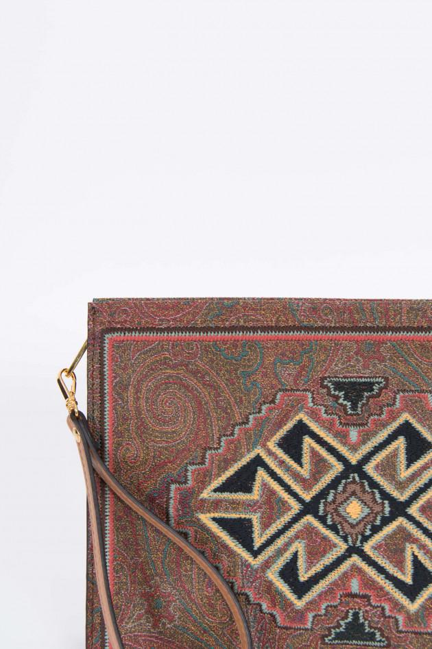 Etro Clutch mit Paisley-Muster und Stickereien