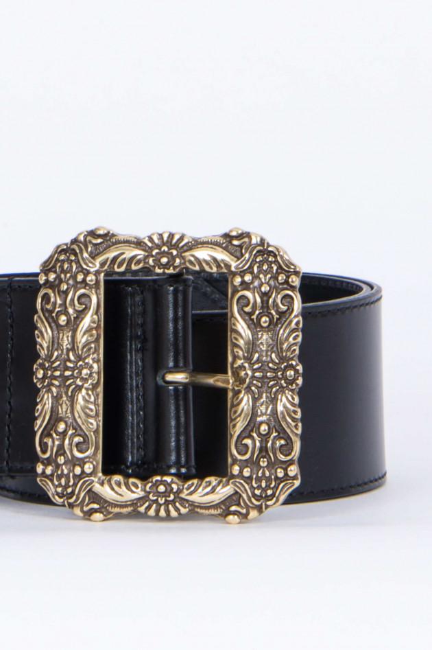 Etro Tailliengürtel in Schwarz/Gold