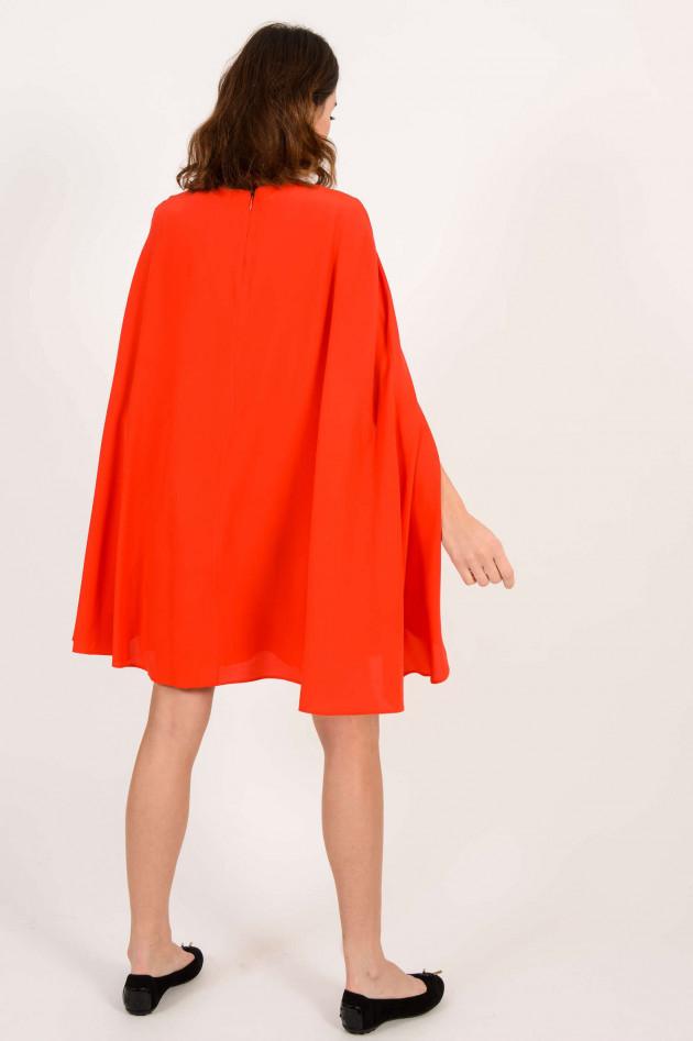 Etro Seidenkleid mit Cape in Rot