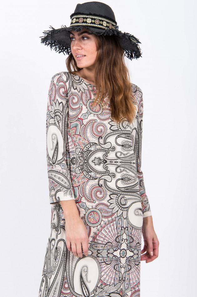 Etro Midi-Kleid im Paisley-Design in Weiß/Schwarz | GRUENER.AT