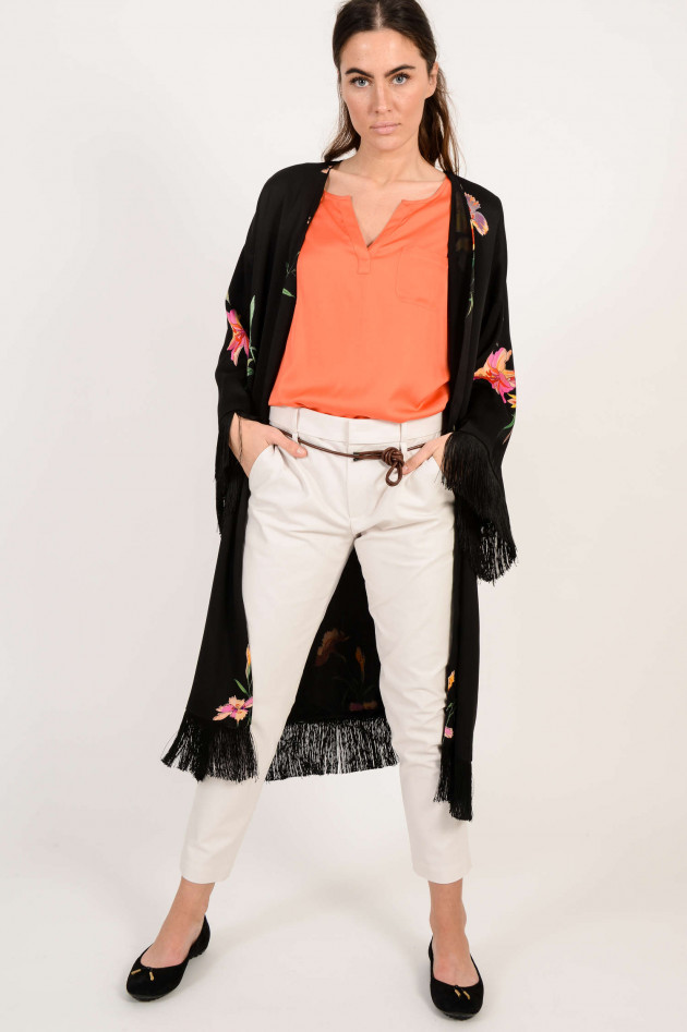 Etro Kimono mit Fransen in Schwarz