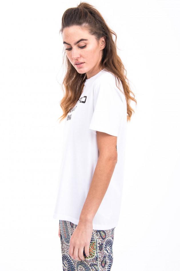 Etro T-Shirt mit Aufdruck in Weiß