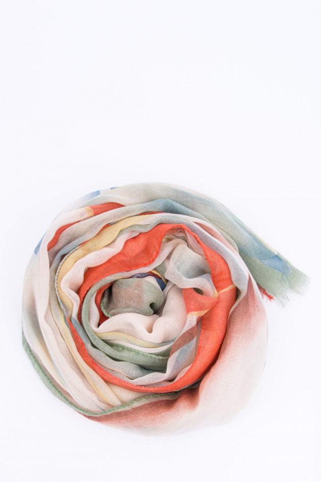 Etro Kaschmirschal im Blatt-Design in Multicolor