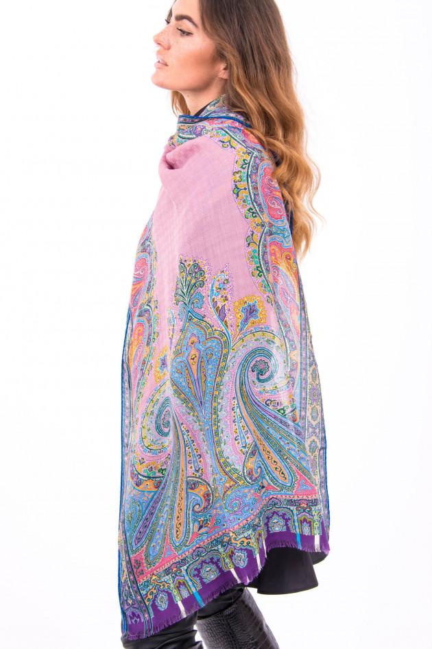 Etro Hochwertiger Schal aus Wolle in Paisley-Muster