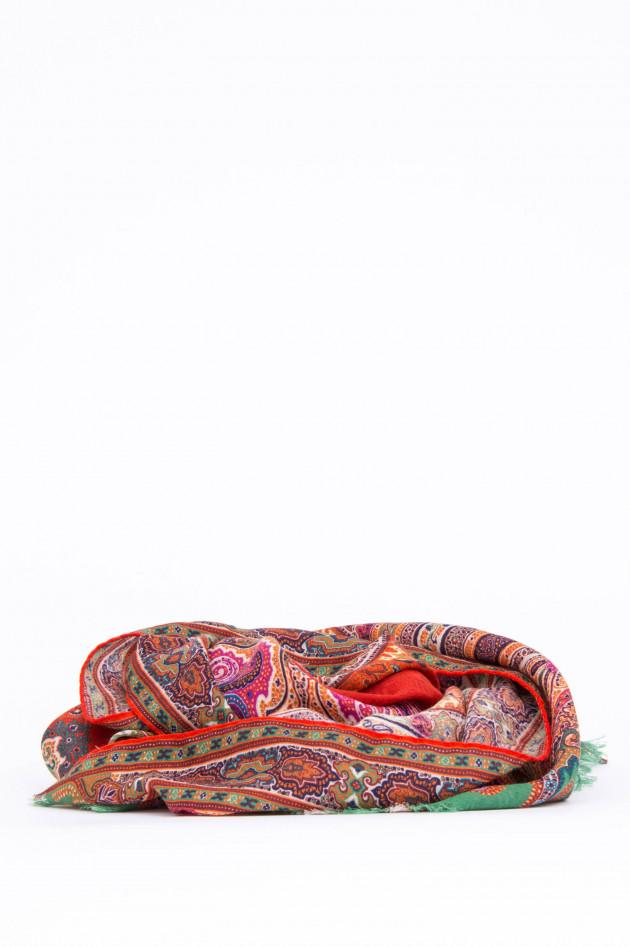 Etro Woll-Schal im Paisley-Design in Multicolor