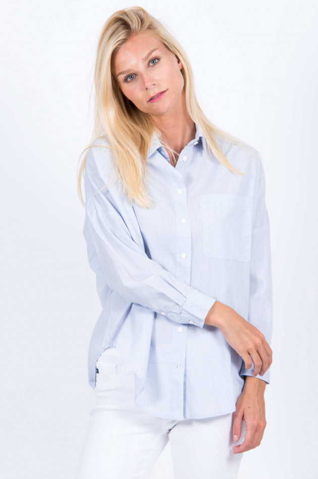 French Connection Bluse in Blau/Weiß gestreift