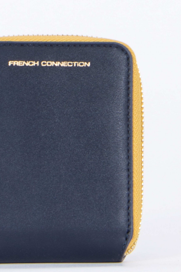 French Connection Brieftasche in Navy/Senfgelb