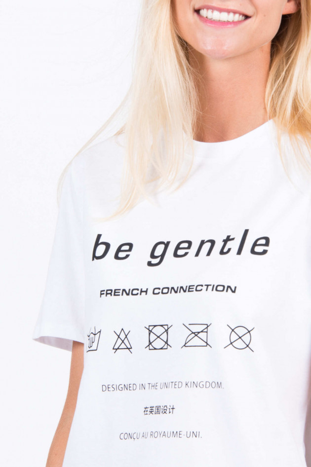 French Connection T-Shirt BE GENTLE in Weiß