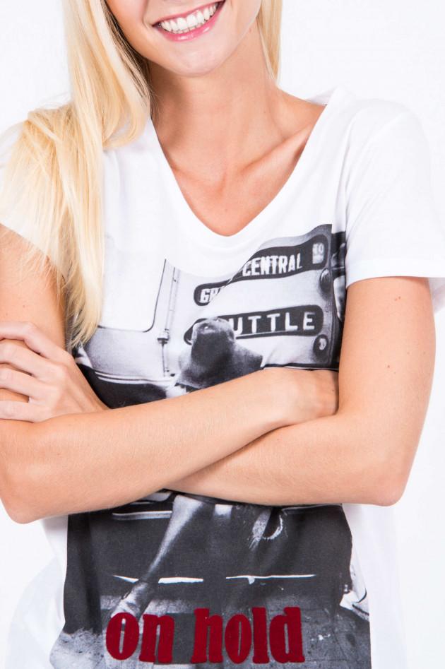 Frogbox T-Shirt ON HOLD in Weiß/Schwarz