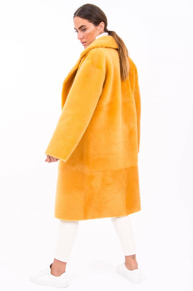Furry Wendemantel ELINA in Gelb