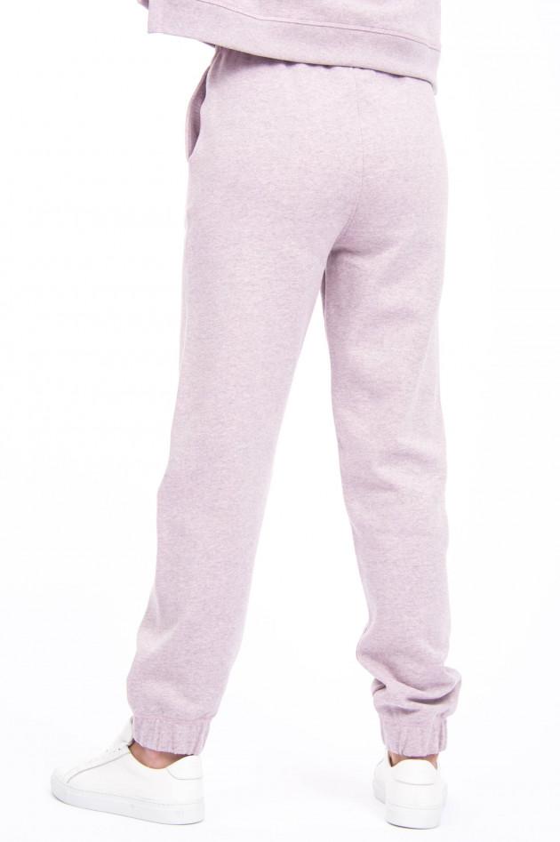 Ganni Sweatpants mit Logo-Stitching in Altrosa