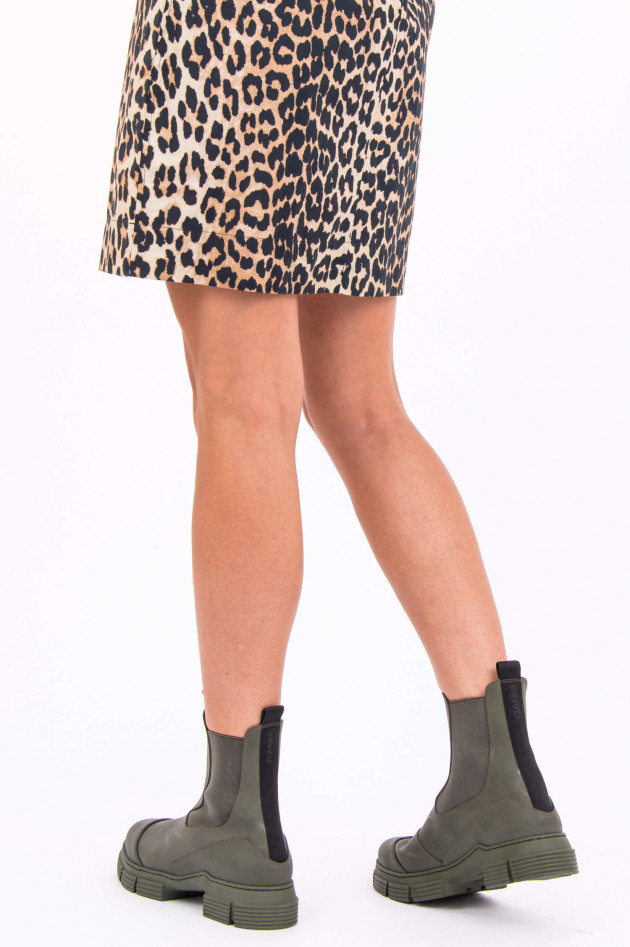 Ganni Rubber City Boot in Oliv
