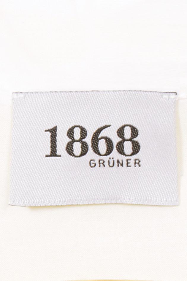 Grüner 1868 Jubiläums - Bluse mit Kellerfalte in Weiß