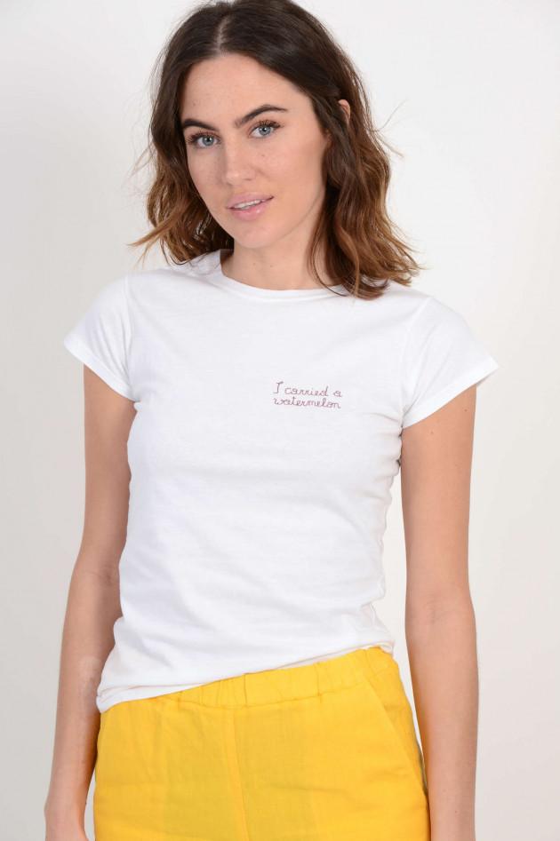 Grüner T-Shirt mit Personalisierung in Weiß