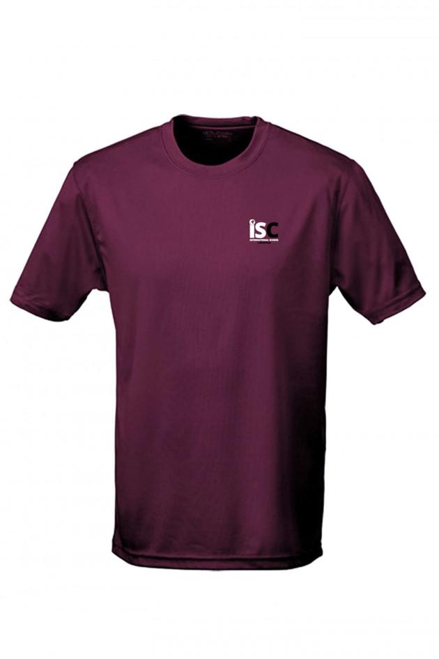 Grüner Funktions-Shirt in Bordeaux