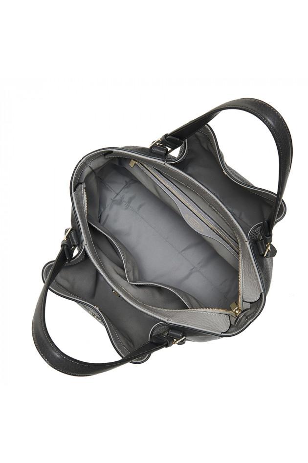 gr ner online shop tod s handtasche flower bag in grau antra. Black Bedroom Furniture Sets. Home Design Ideas