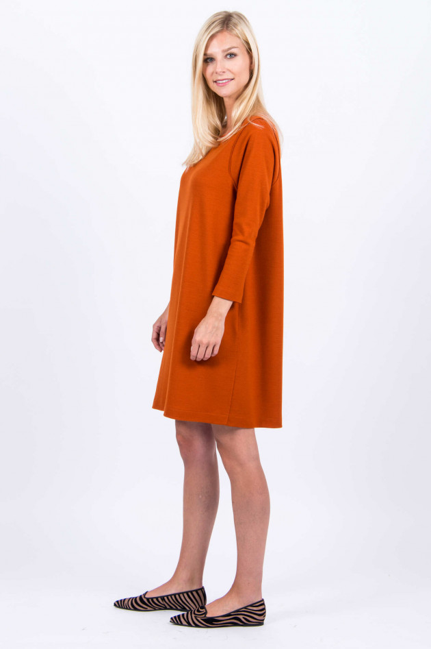 Harris Wharf London Kleid aus Schurwolle in Orange